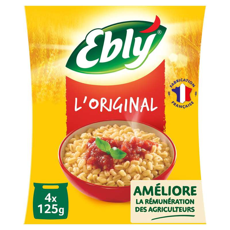 Blé nature cuisson rapide, Ebly (4 x 125 g)