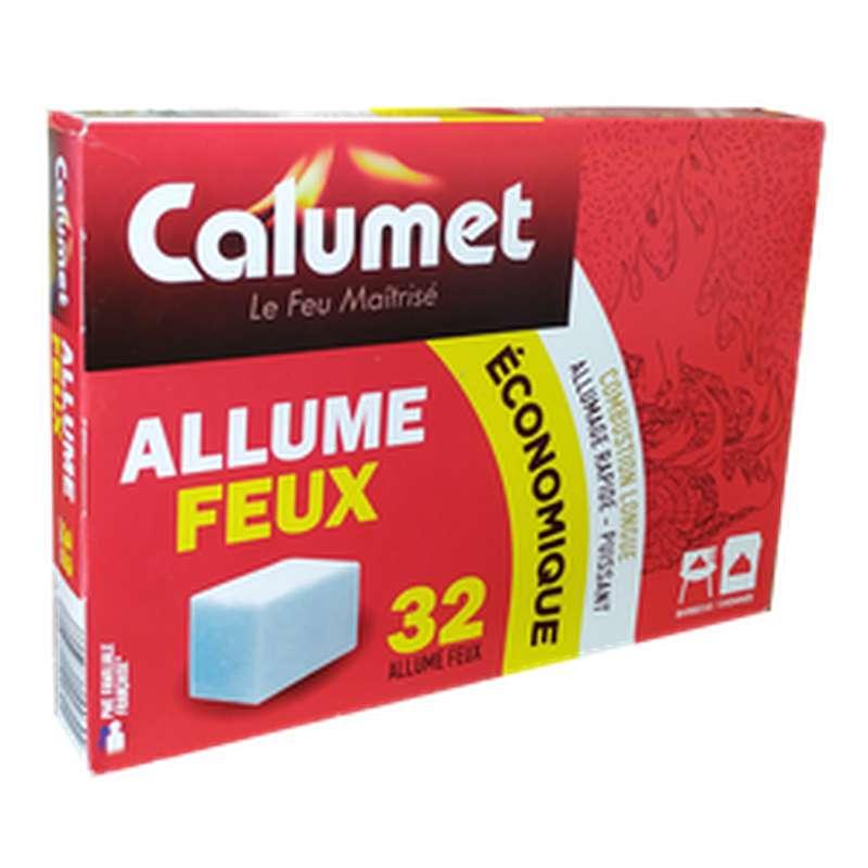 Allume-feux économique combustion longue, Calumet (x 32 cubes)
