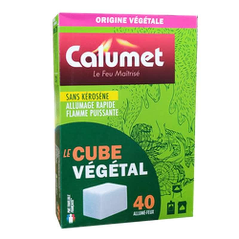 Allume-feu Cube Végétal sans kérosène, Calumet (x 40 cubes)