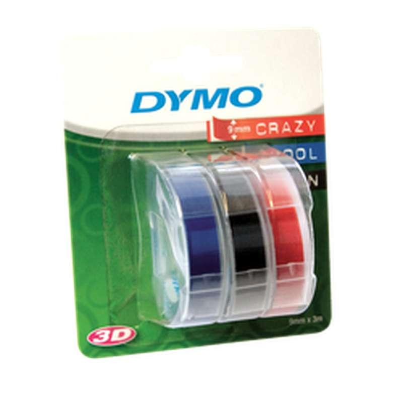 Ruban d'impression 9 x 3 mm 3 coloris, Dymo (x 3)