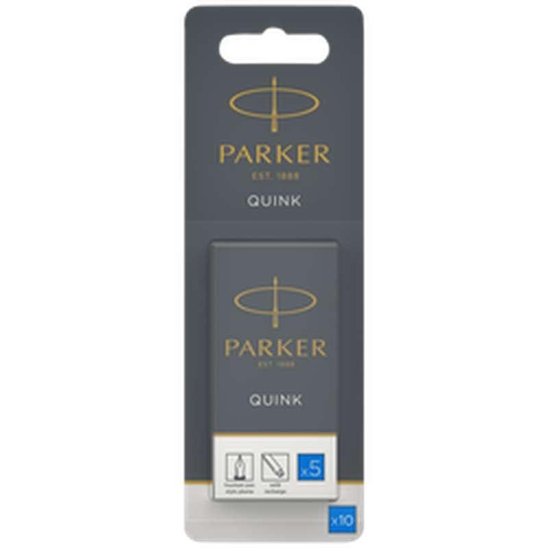 Cartouche d'encre longue bleue, Parker (x 10)