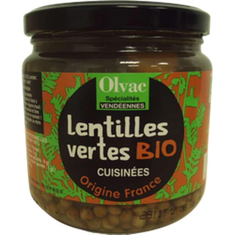 Lentilles vertes cuisinées BIO, Olvac (410 g)