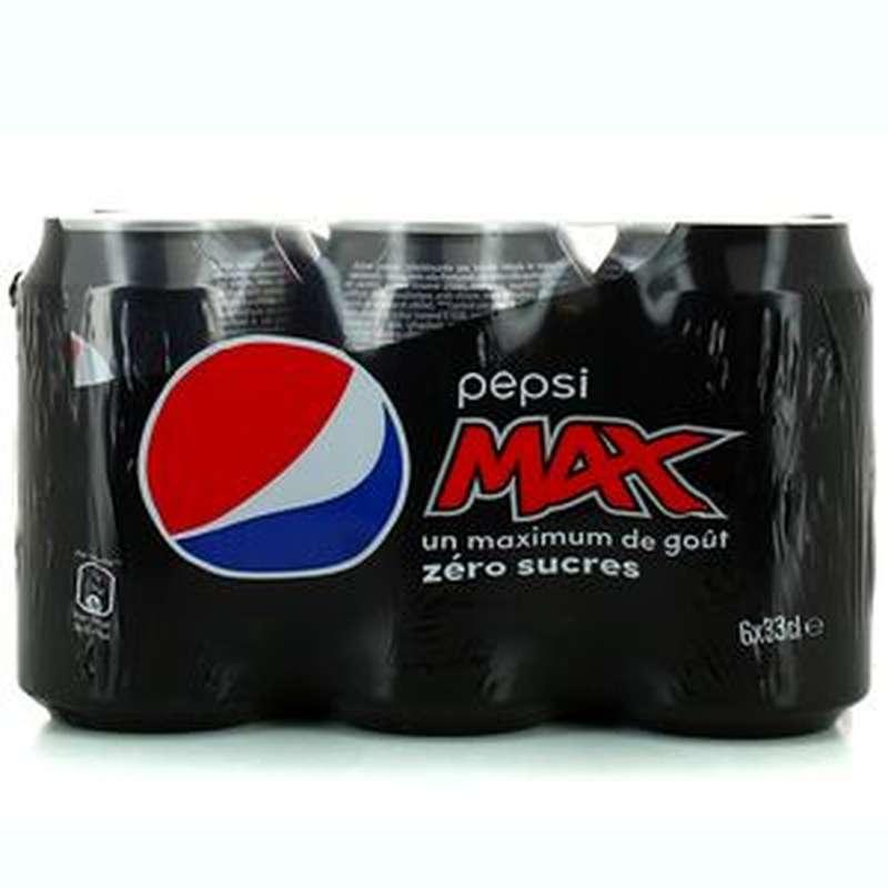 Pack de Pepsi Max sans sucre (6 x 33 cl)