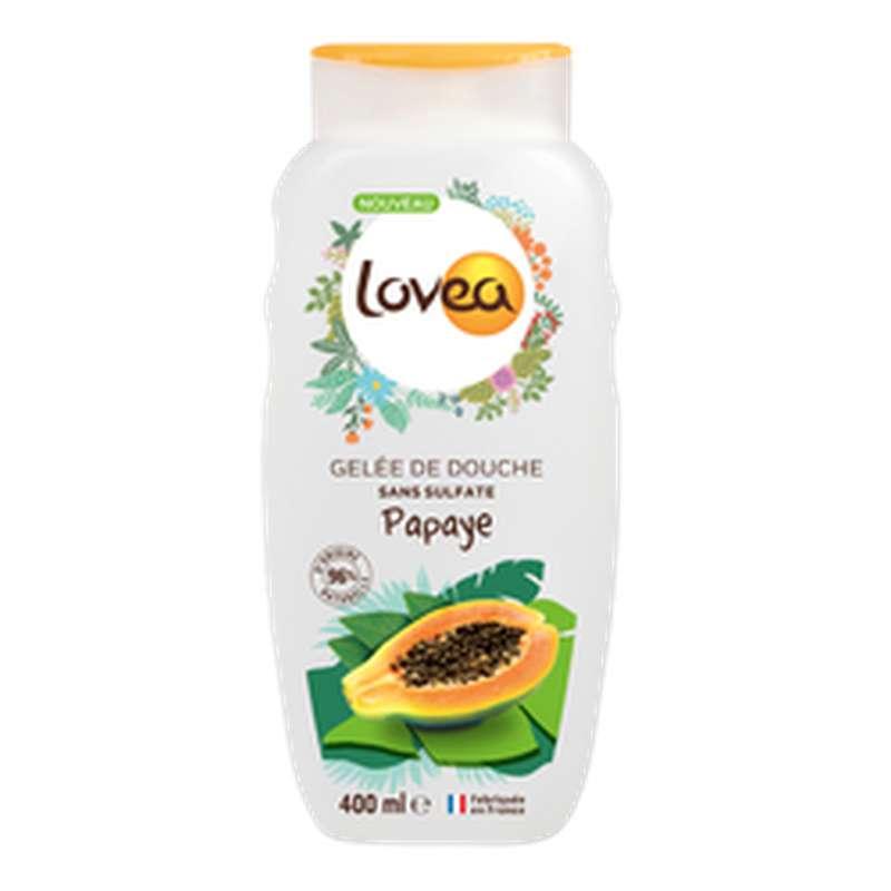 Gelée de Douche Papaye sans sulfate, Lovea (400 ml)