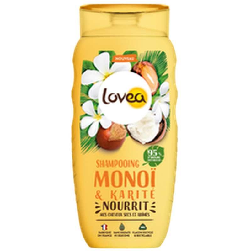 Shampoing Monoï et Karité pour cheveux Secs & abimés, Lovea (250 ml)