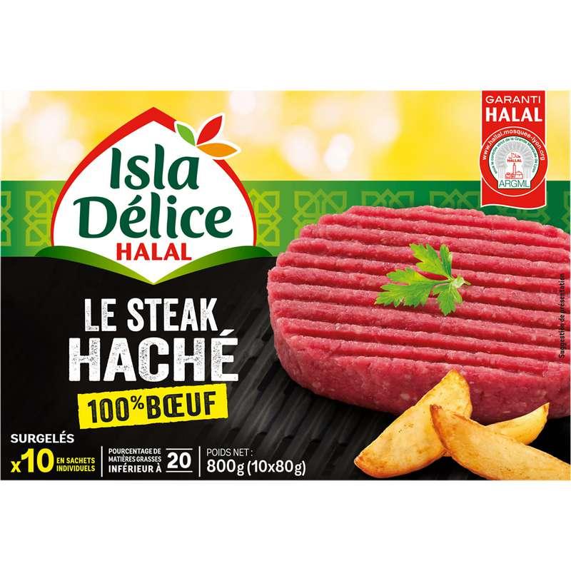Steak 100% boeuf halal, Isla Delice (10 unités, 800 g)