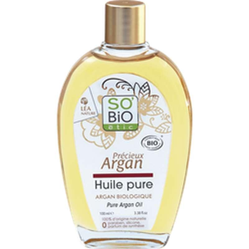 Huile pure d'argan Précieux Argan BIO, So'Bio Etic (100 ml)