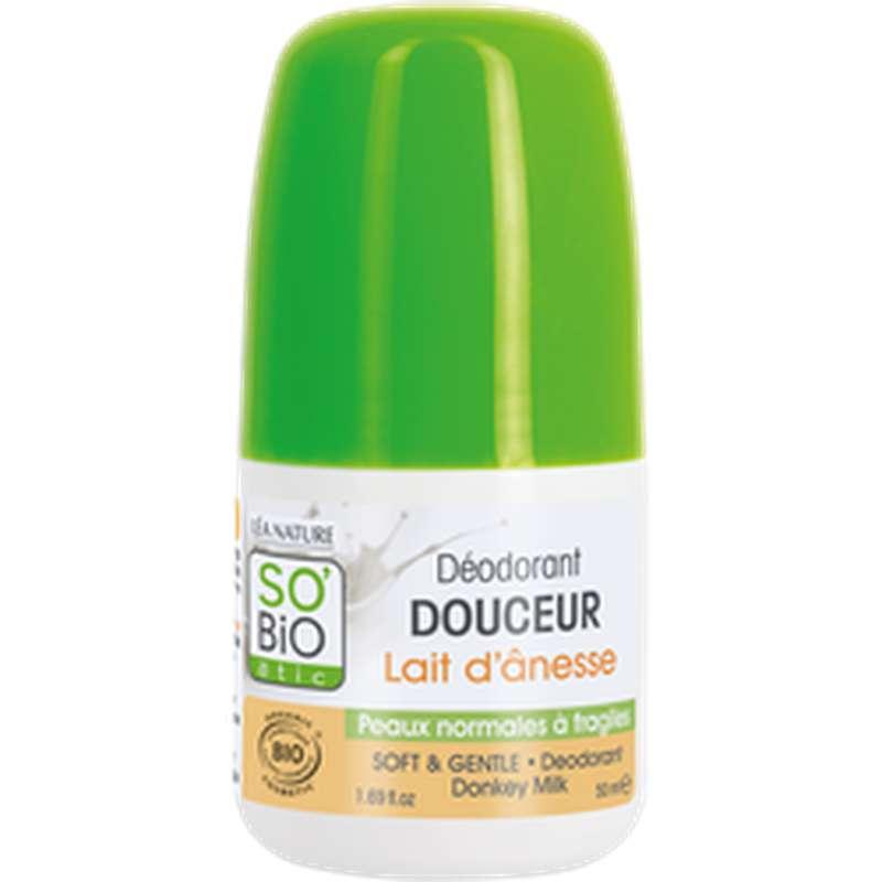 Déodorant douceur au lait d'ânesse BIO, So'Bio Etic (50 ml)