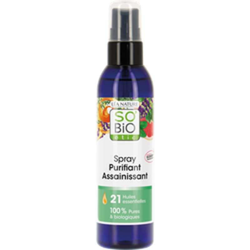 Spray purifiant assainissant aux 21 huiles essentielles BIO, So'Bio Etic (200 ml)