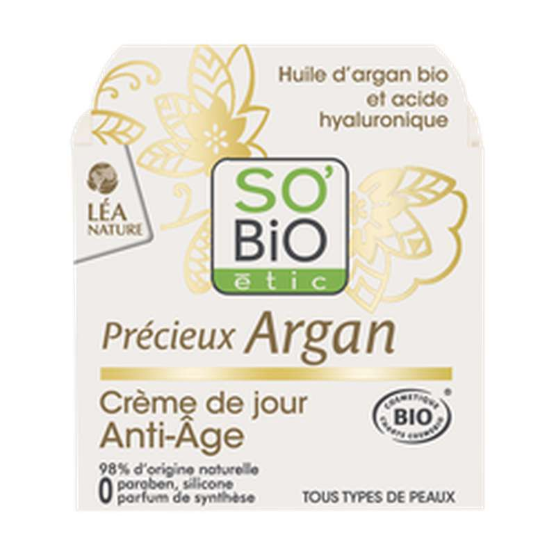 Crème de jour anti-âge Précieux Argan BIO, So'Bio Etic (50 ml)