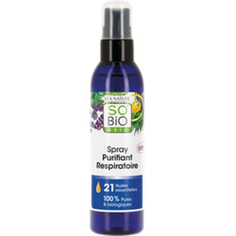 Spray purifiant respiratoire aux 21 huiles essentielles BIO, So'Bio Etic (200 ml)
