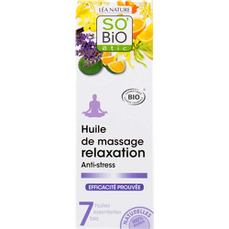 Huile de massage relaxation anti-stress BIO, So'Bio Etic (100 ml)