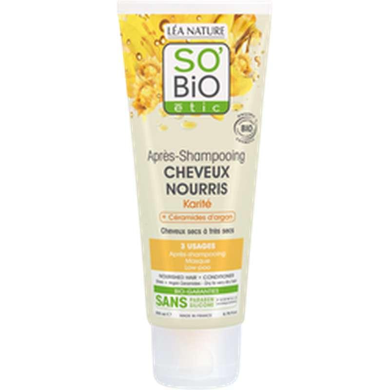 Après-shampoing cheveux nourris Karité BIO, So'Bio Etic (200 ml)