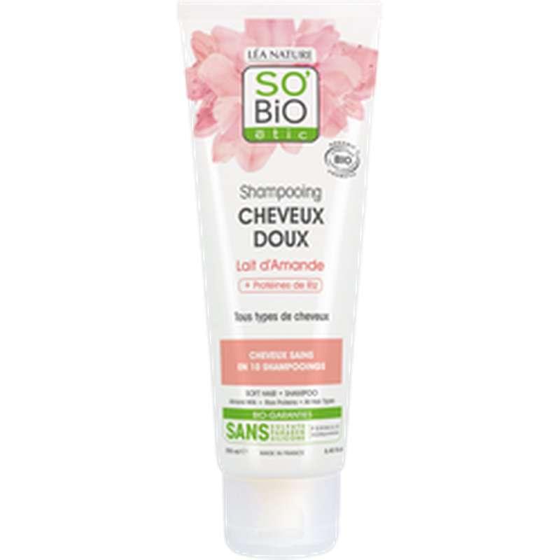 Shampoing cheveux doux Lait d'Amande BIO, So'Bio Etic (250 ml)