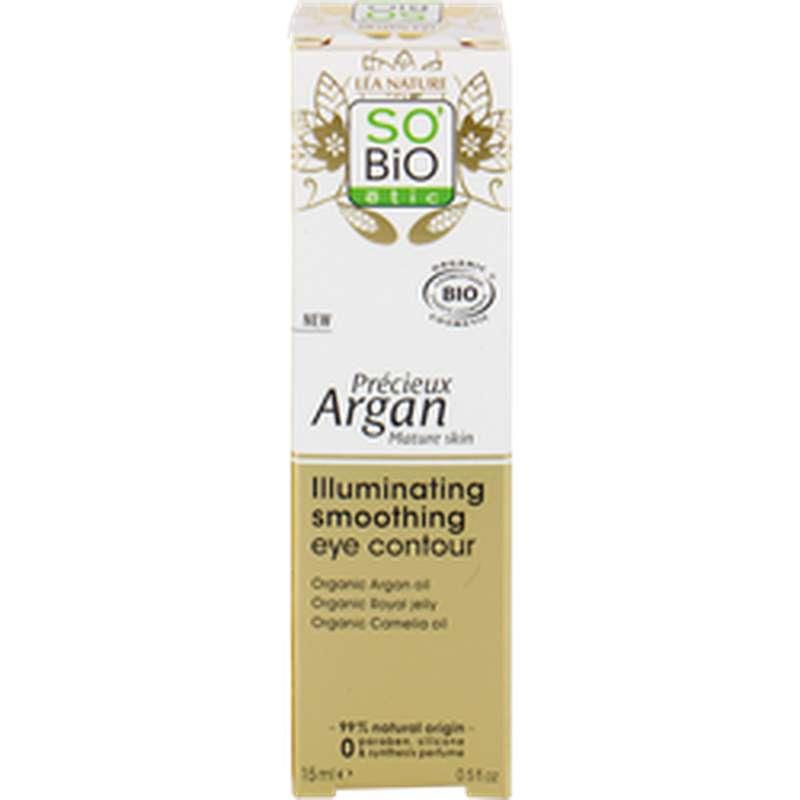 Soin yeux lumière revitalisant peaux matures Précieux Argan, So'Bio Etic (15 ml)