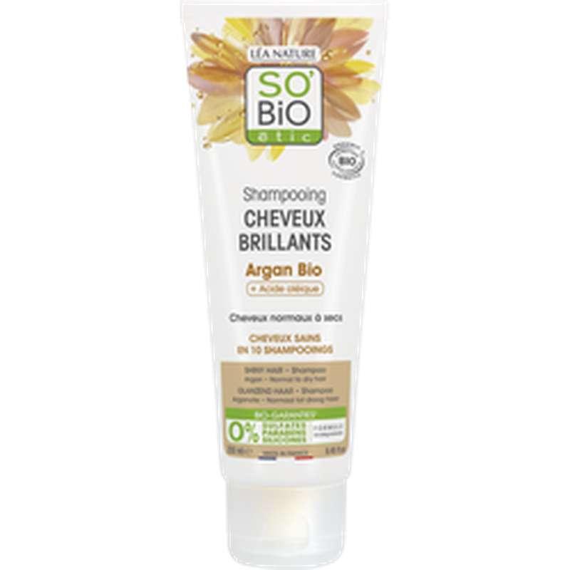 Shampoing cheveux brillants Argan BIO, So'Bio Etic (250 ml)