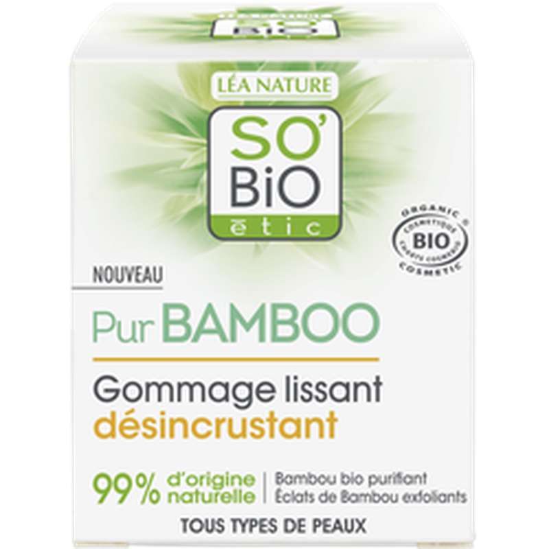 Gommage lissant désincrustant Pur Bamboo BIO, So'Bio Etic (50 ml)
