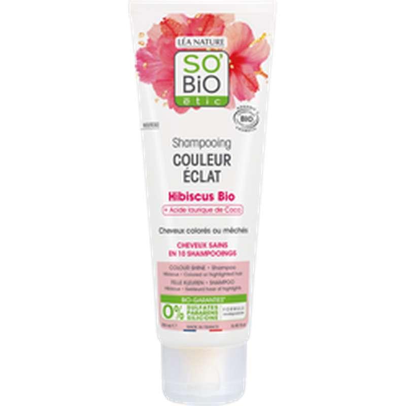 Shampoing couleur éclat Hibiscus BIO, So'Bio Etic (250 ml)