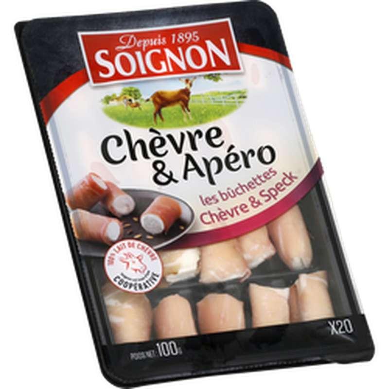 Bûchettes apéro Chèvre et Speck, Soignon (x 20, 100 g)