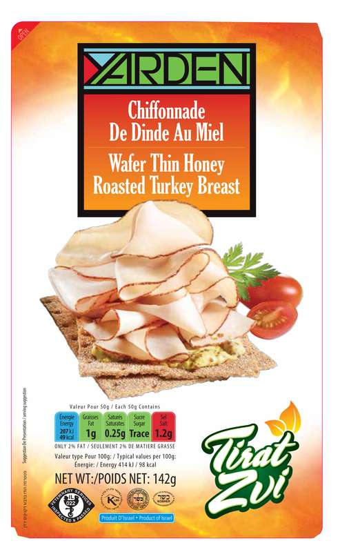 Chiffonnade de dinde au miel, Yarden (142 g)