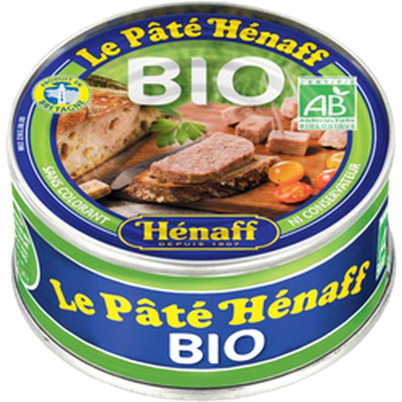 Pâté pur porc au sel de guérande BIO, Henaff (76 g)