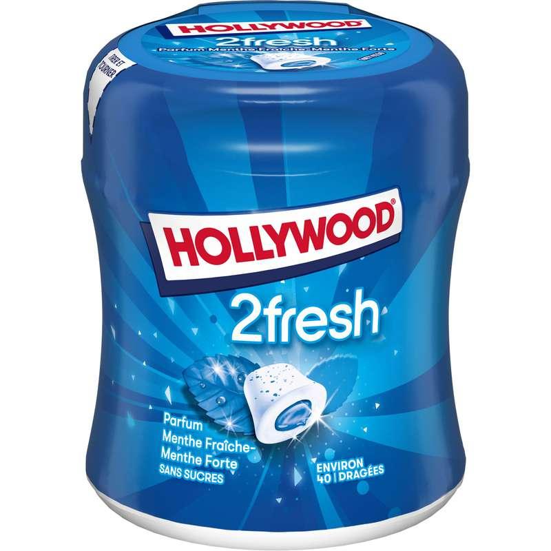 Chewing-gum menthe fraîche-forte sans sucres, Hollywood (88 g)