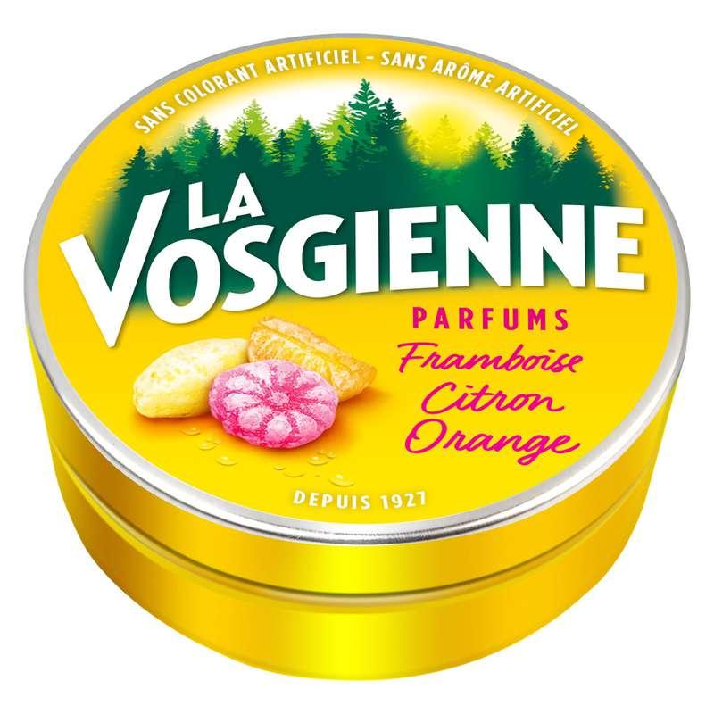 Bonbons framboise citron orange, La Vosgienne (125 g)