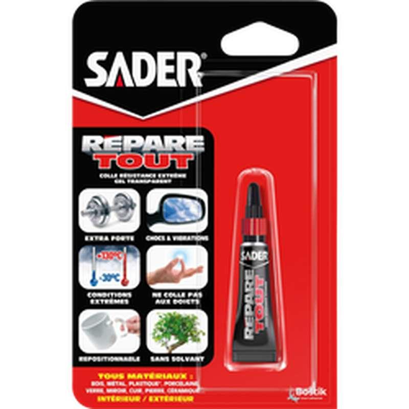 Colle répare-tout tube en gel, Sader (5 g)