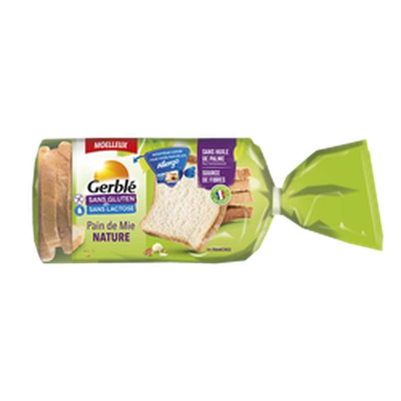 Pain de mie tranché sans gluten ni lactose, Gerblé (350 g)