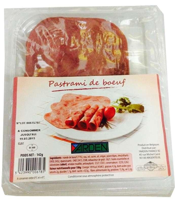 Pastrami de boeuf, Yarden (142 g)