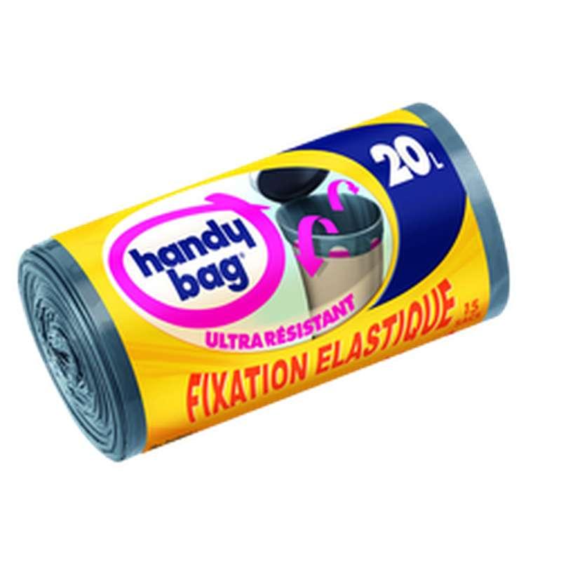 Sacs poubelle ultra résistants fixation élastique, Handy Bag (15 x 20 L)