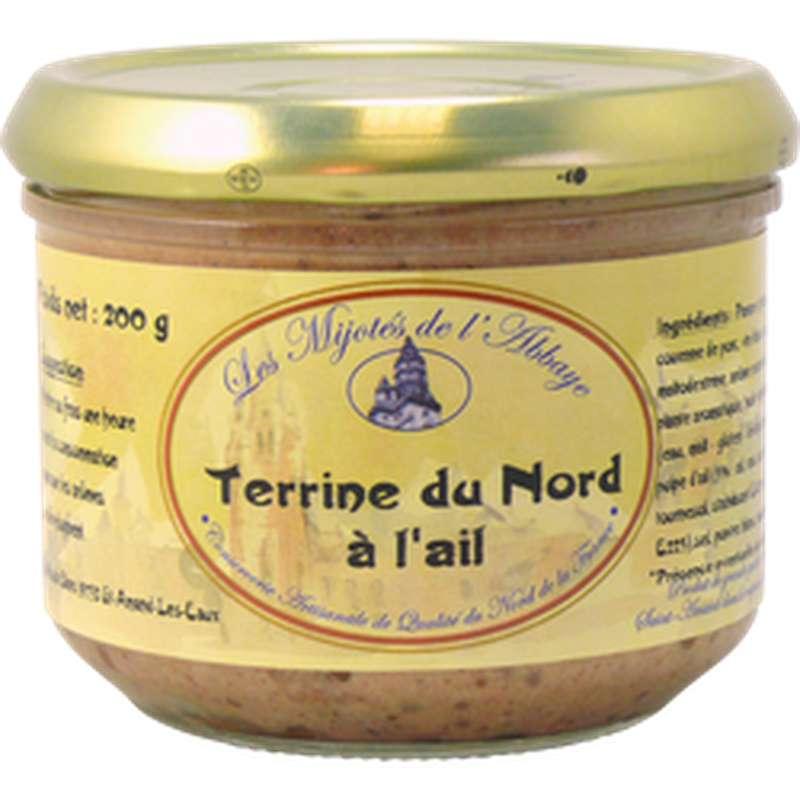 Terrine du Nord à l'ail, Les Mijotés d'Abbaye (200 g)