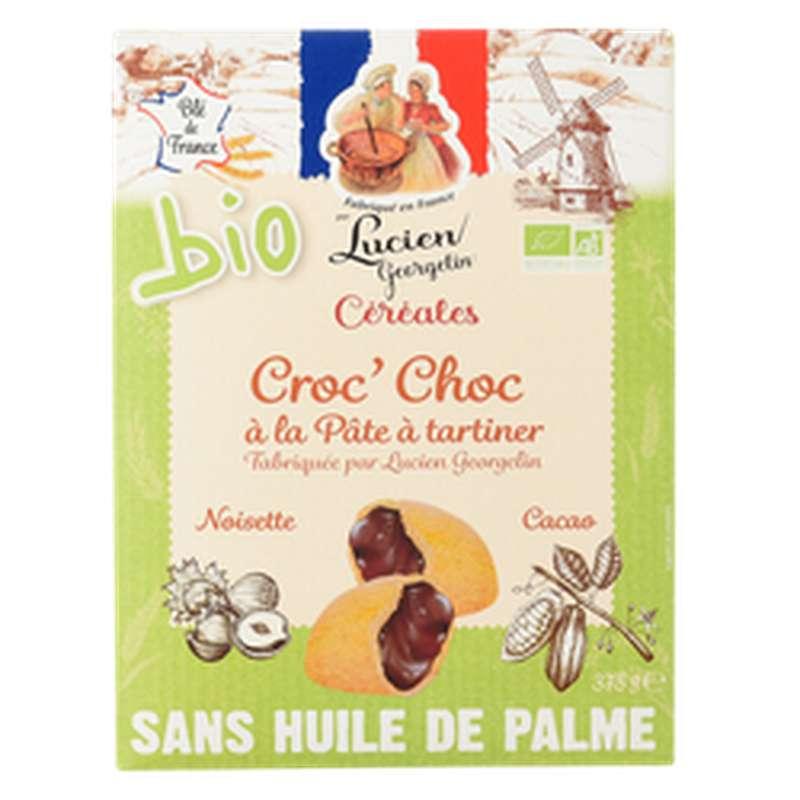 Céréales croc'choc à la pâte à tartiner coussin jaune BIO, Lucien Georgelin (375 g)