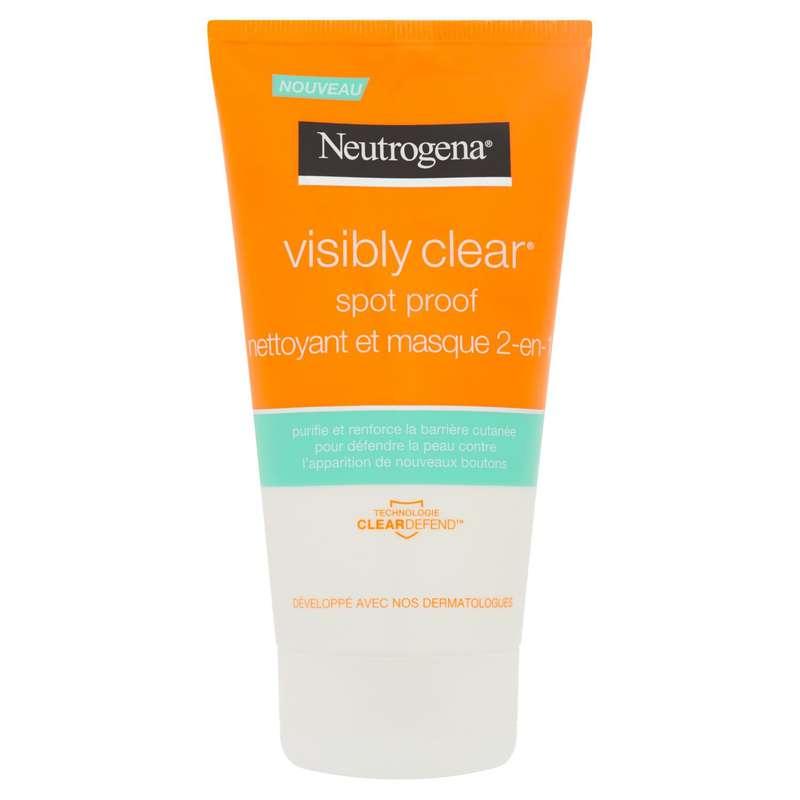 Nettoyant masque Visibly Clear 2en1, Neutrogena (150 ml)