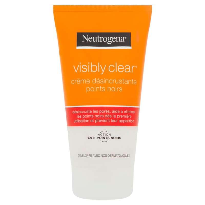 Crème nettoyant visage visibly clear désincrustante points noirs, Neutrogena (150 ml)