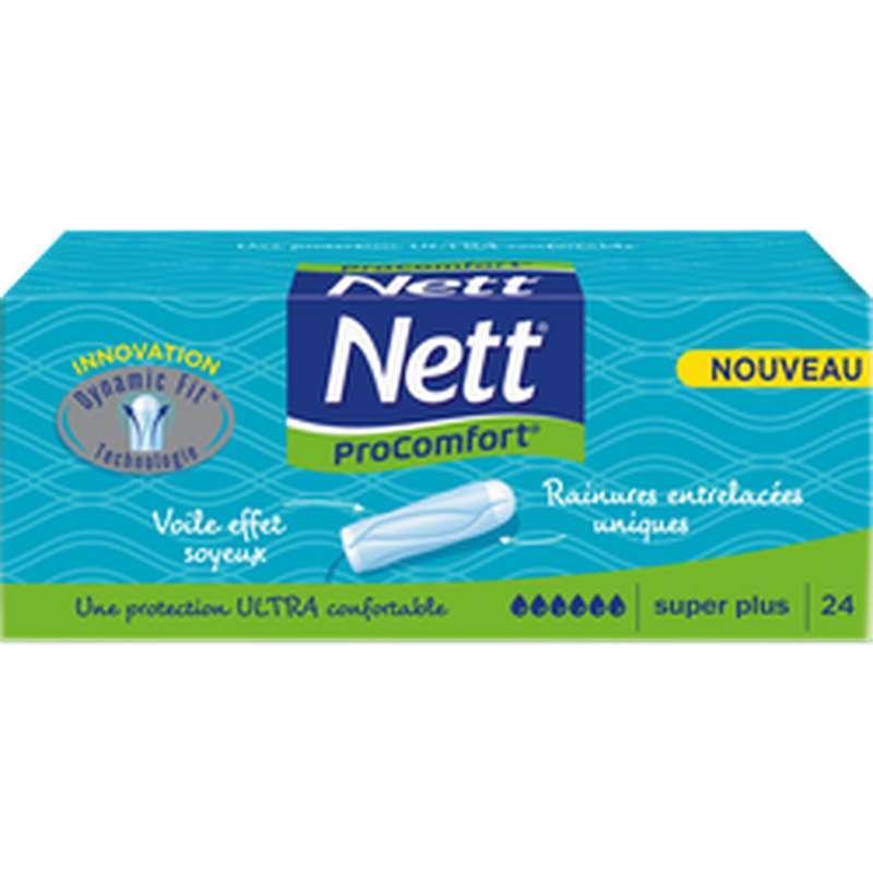 Tampons Pro Confort sans applicateur Super +, Nett (x 24)