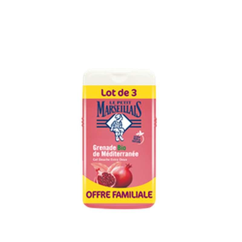 Gel douche parfum grenade de méditerranée, Le Petit Marseillais LOT DE 3 (3 x 250 ml)