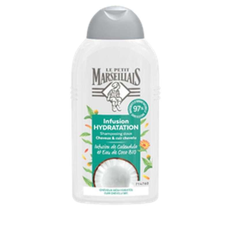 Shampoing hydratation infusion coco et calendula, Le Petit Marseillais (250 ml)