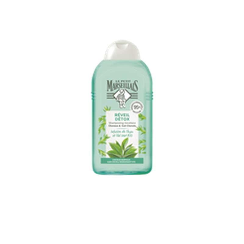Shampoing réveil détox Infusion thym et thé vert BIO, Le Petit Marseillais (250 ml)