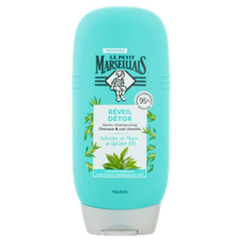 Après-shampoing réveil détoxication infusion Thym et Thé Vert, Le Petit Marseillais (200 ml)