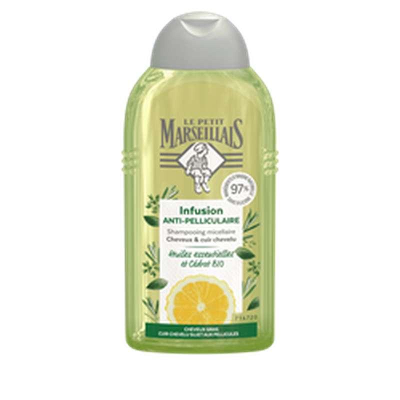 Shampoing anti-pelliculaire cheveux gras infusion cédrat BIO, Le Petit Marseillais  (250 ml)
