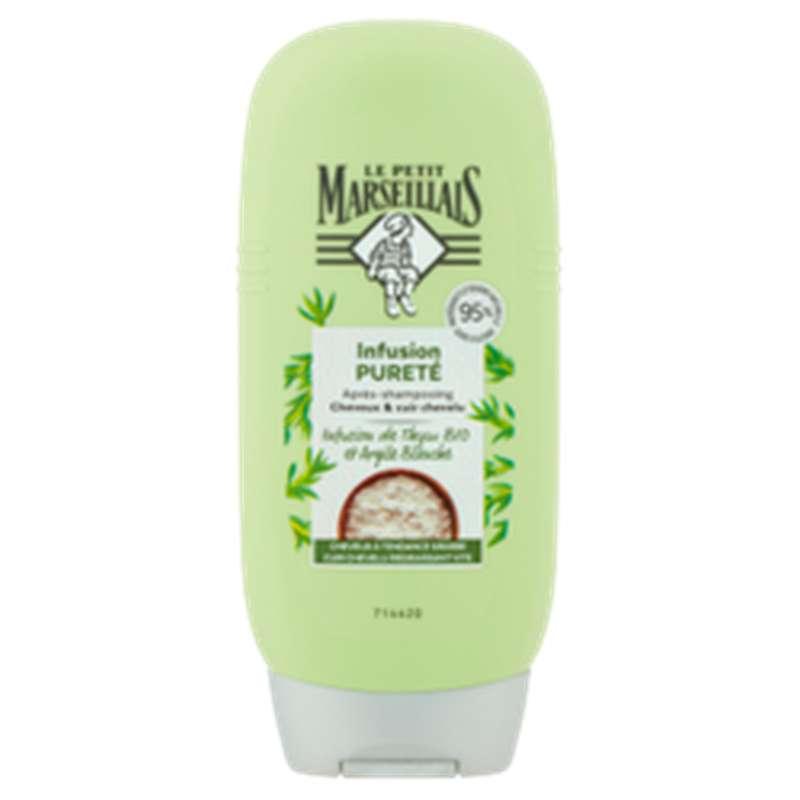 Après-shampoing purifiant infusion thym & argile, Le Petit Marseillais (200 ml)