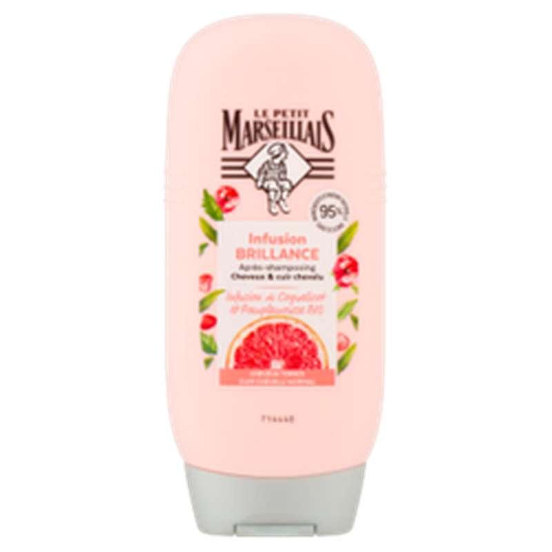 Après-shampoing brillance coquelicot & pamplemousse, Le Petit Marseillais  (200 ml)