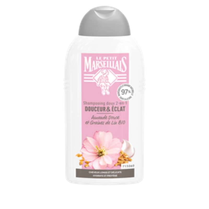 Shampoing douceur et éclat lin et amande, Le Petit Marseillais (250 ml)