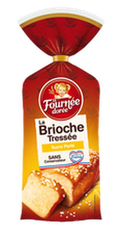 Brioche tressée au sucre perlé, La Fournée Dorée (400 g)