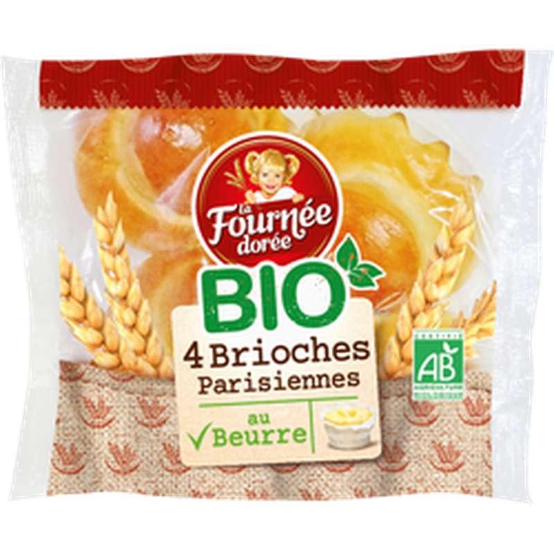 Brioches parisiennes au beurre BIO, La Fournée Dorée (x 4, 180 g)