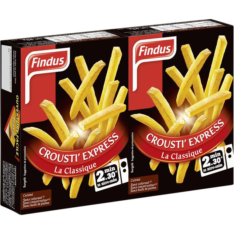 Frites Crousti' Express La Classique, Findus (2 x 90 g)