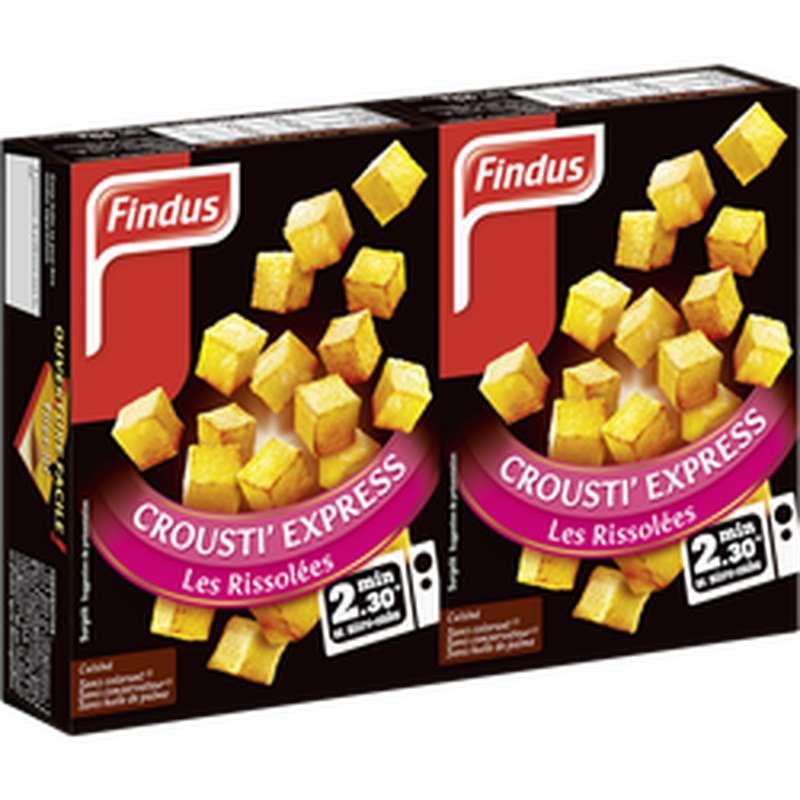 Pommes de Terre rissolées Crousti Express, Findus  (x 2, 90 g)