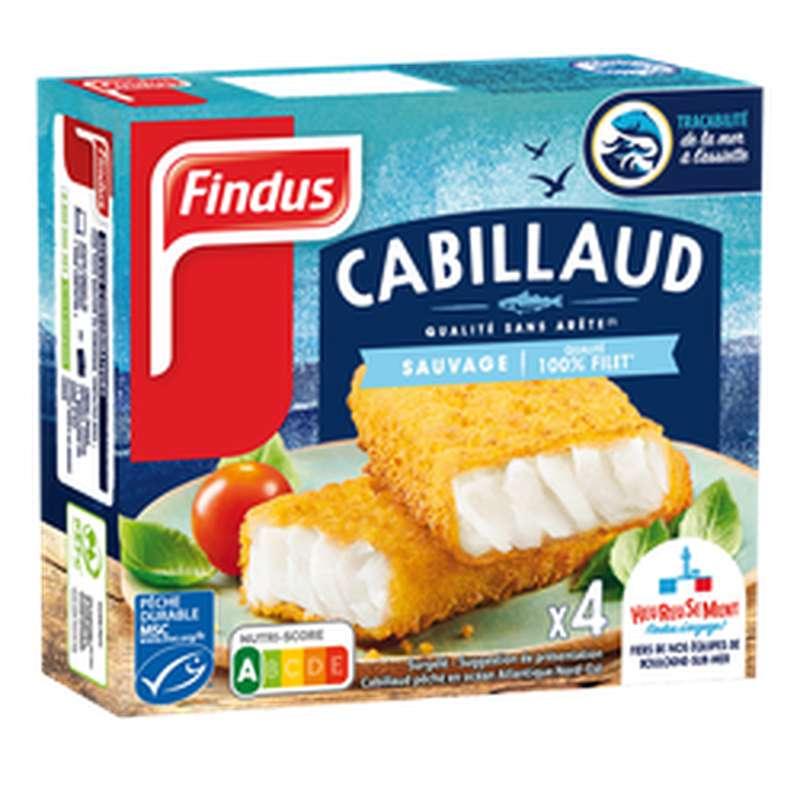 Panés de Cabillaud, Findus (x 4, 204 g)
