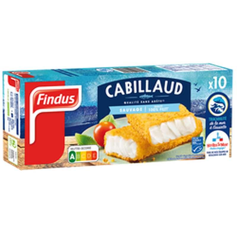 Panés de Cabillaud, Findus (x10, 510 g)